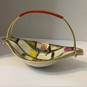 Vintage MCM West Germany Candy Dish with handle